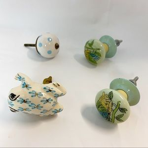 Anthropologie drawer knobs pulls frog butterfly